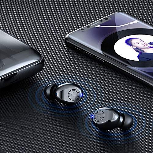 Lasamot F9-8 TWS Auriculares BT V5.0 Auriculares estéreo Mini auriculares manos libres HD llamada con micrófono LED pantalla de alimentación digital con 2000mAh Power Bank