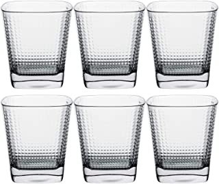 Premium Quality Tumbler Drinking Glasses for Water, Beverages & Cocktails, 10.5-Ounce, Set of 6