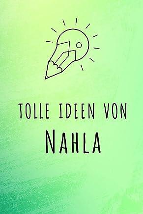 Tolle Ideen von Nahla: Unliniertes Notizbuch mit Rahmen für deinen Vornamen