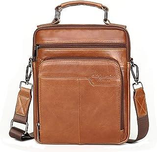Langzu Men's Genuine Leather Messenger Shoulder Bag Handbag CrossBody Briefcase