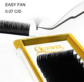 Volume Eyelash Extensions Thickness 0.07 C Curl 10mm Premade Fans 2D 3D 4D 5D 6D 20D Easy Fan Lash Self Fanning|Optinal Thickness 0.05/0.07/0.10/0.12 C/D Curl Single 8-18mm Mix 8-15mm|