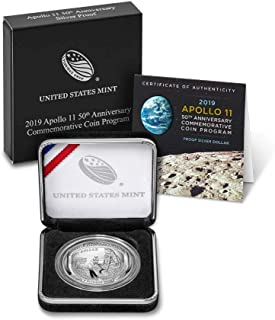 2019 P Apollo 11 50th Anniversary Curved Commemorative Coin Program Silver Dollar Mint Packaged US Mint