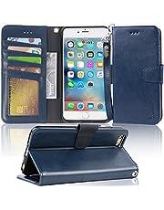 iPhone 6s Plus/6 Plus ケース 手帳型 スマホケース「ストラップ付き 橫置き機能 カードポケット付き」アイフォーン 6/6s プラス 適応用 Arae 財布型 カバー