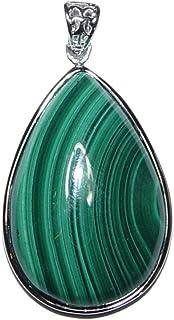 50 x 33 mm gefasst Baumachat Anhänger,Oval an Öse ca