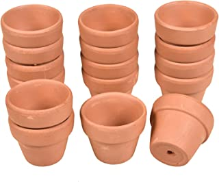 Timoo Terra Cotta Pots, 16 PCS Terracotta Pots with Drainage Hole in 2 Inches for Indoor/Outdoor Plants Crafts
