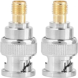Akozon 2 stuks BNC-stekker op sma-bus type RF stekker coaxiale adapter testconverter