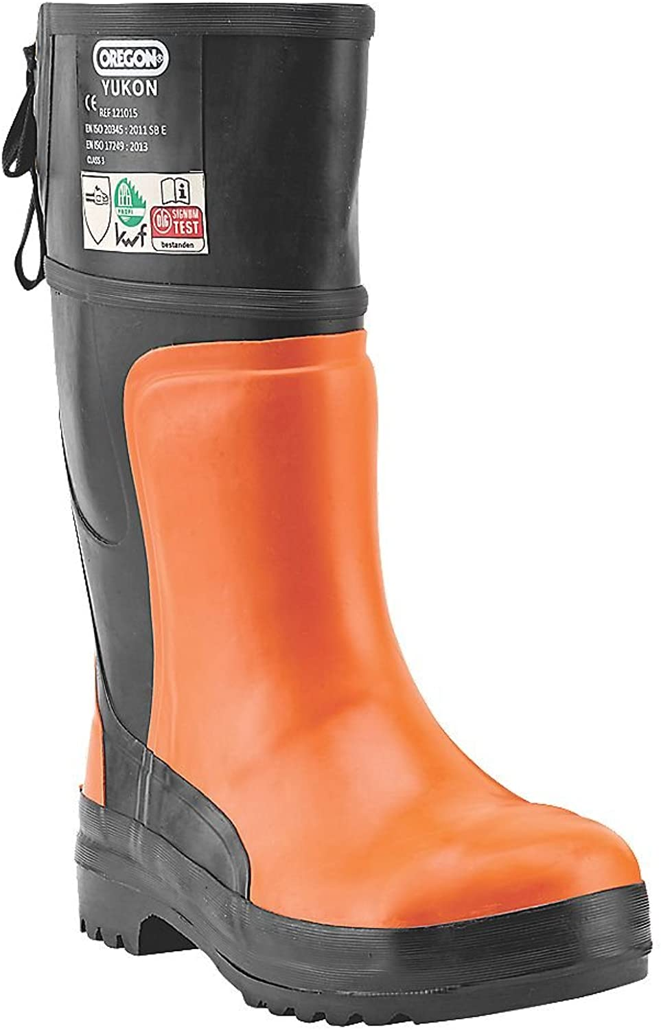 Oregon Yukon Rubber Chainsaw Safety Boots orange   Black Size 7.5