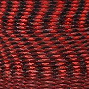 PARACORD PLANET Cuerda de paracaídas de 340 kg tipo IV auténtica cuerda de paracaídas 11 hilos interiores de núcleo fuerza mínima de rotura de 340 kg, 10, 25, 50, 100 pies, carretes de 250, 1000 pies (viuda negra, 100 pies)