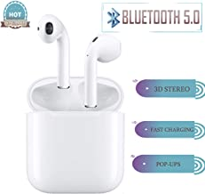 Wireless Earbuds Wireless Headphones with【24Hrs Charging Case】Waterproof 3D Stereo Headphones in-Ear Built-in Mic Headset Premium Sound with Deep Bass for Sport Earphones Apple Airpod Android