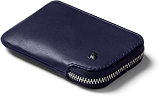 Bellroy Leather Card Pocket Wallet, Slim Zipper Wallet (Max. 15 Cards, Bills and Coin Pouch) - Navy