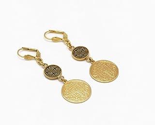 Orecchini LUCKY oro 24K regali personalizzati regali di Natale amici compleanno gioielli cerimonia di nozze sposa damigell...