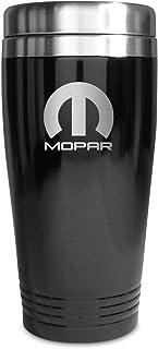Au-Tomotive Gold, INC Mopar Parts Black Stainless Steel Travel Mug Tumbler