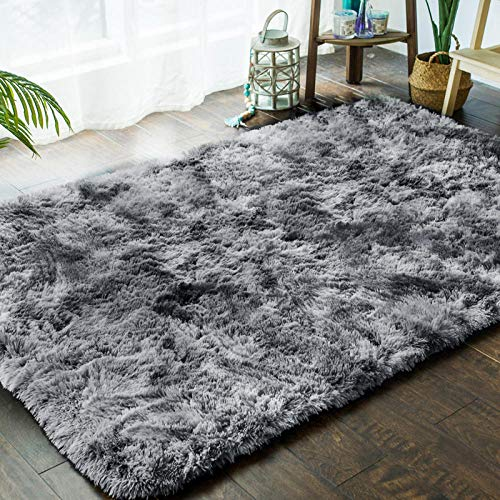 XOCKYE Faux Fur rug Soft Fluffy rug, Shaggy Rugs Faux Sheepskin Rugs Floor Carpet for Bedrooms Living Room Kids Rooms Decor@140 * 200cm_Grigio