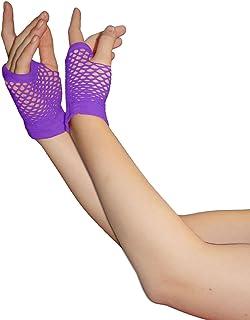 Islander Fashions Damen Short & Long Fischnetz Handschuhe Damen Plain Beinwrmer Fancy Party Accessoire One Size