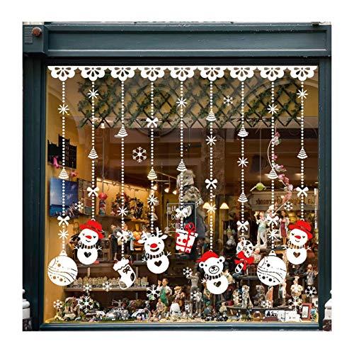 HXBHAdesivi per finestre di Natale, Decorazioni per finestre di Natale con Fiocchi di Neve, Adesivi per finestre di Natale Rendono l'intera Famiglia Piena di Atmosfera Natalizia