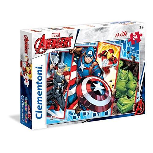 Clementoni The Avengers Supercolor Puzzle, 24 Pezzi, 24495