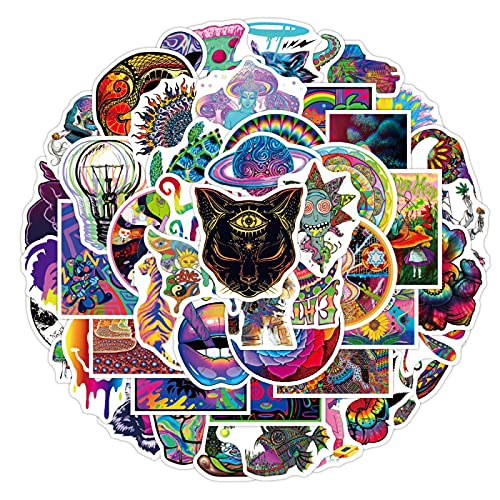 FENGLING Pegatinas de Graffiti de Dibujos Animados, monopatín, Nevera, portátil, Motocicleta, Equipaje, Nevera, Pegatina, 50 Piezas