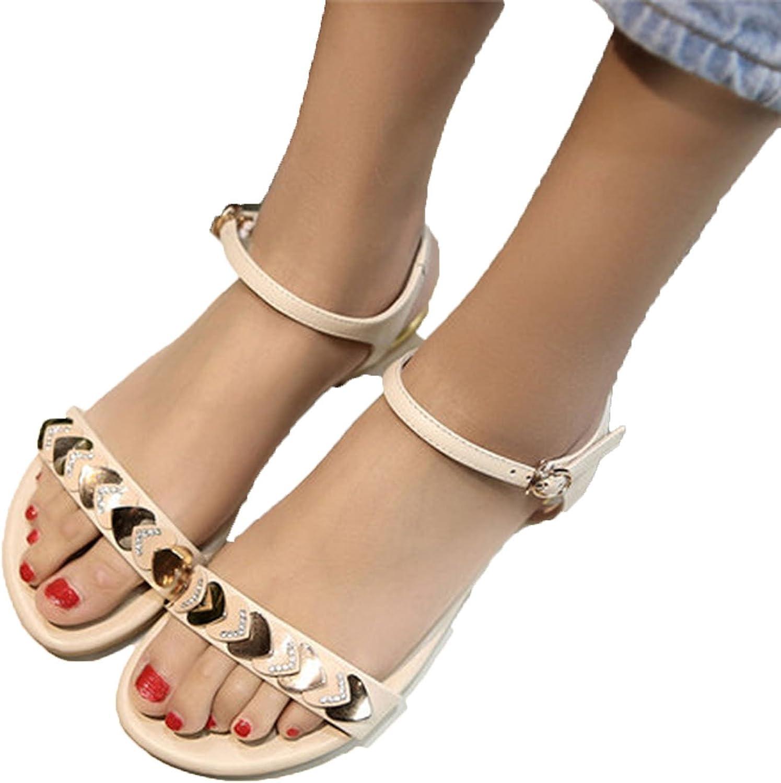 Running-sun Women's Sandals Genuine Leather with Bling Women Sandals Summer Women Flats Girls Sandals