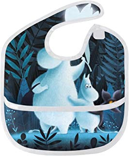 5ff82003e DJROW Moomin Baby Bib Waterproof Washable Stain and Odor Resistant fits  6-24 Months