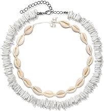 HEIDKRUEGER Shell Choker Necklace Handmade Adjustable Cowrie Collar Boho Hawaii Summer Beach Necklace for Women Girls