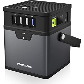 POWERADD Portable Power Station 50000mAh, 185Wh Outdoor Solar Generator Mobile Battery Pack with 110W AC Outlet 12-19V DC outlet and 4 USB Fast charging port for Road Trip Camping, Outdoor Adventure