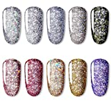 Gel Esmalte De Uñas 10colores/lote Uv Nail Gel Painting Glitter Diamond Dazzling Gel Nail Varnish Hybrid Semi Permanent Base Top Manicure Set