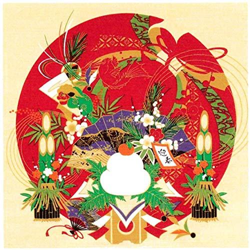 風呂敷 綿シャンタン 50�p 小風呂敷 ( ふろしき )54-1 タペストリーに最適 彩時記「お正月」 日本製 通販 ギフトに。