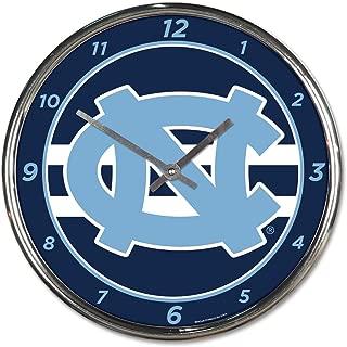Wincraft University of North Carolina UNC Tar Heels 12 inch Round Wall Clock Chrome Plated