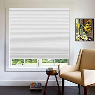 Keego Cellular Blinds Cordless Blackout Honeycomb Shades, Single Cell Darkening Thermal Window Blind for Bedroom,Living Ro...
