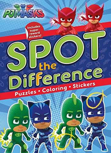 Pj Masks Spot the Difference: Puzzles, Coloring, Stickers