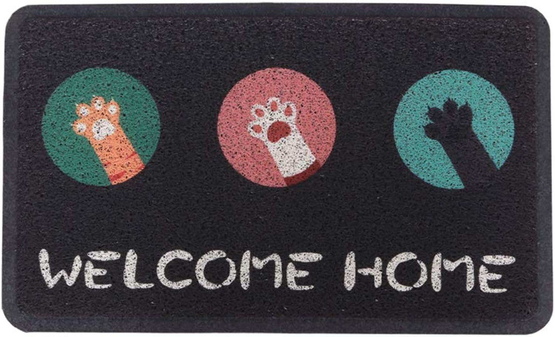 Door mat,Front Entrance Door mat Indoor mats Indoor mat Non Slip Door mat Rug-Cat 60x90cm(24x35inch)