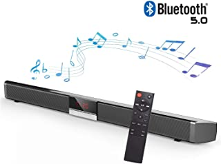 HYASIA Sound Bars for TV, Soundbar with Built-in Subwoofer Surround Sound, 34-Inch 5.0 Bluetooth Version 4 Speakers Strong Bass Sound Bar Wired and Wireless Bluetooth Audio Speakers