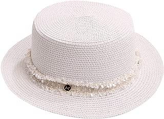 Women Beach Hat Bohemia Straw Panama Hat Fedora Summer Beach Sun Hat Wide Brim Sun Cap