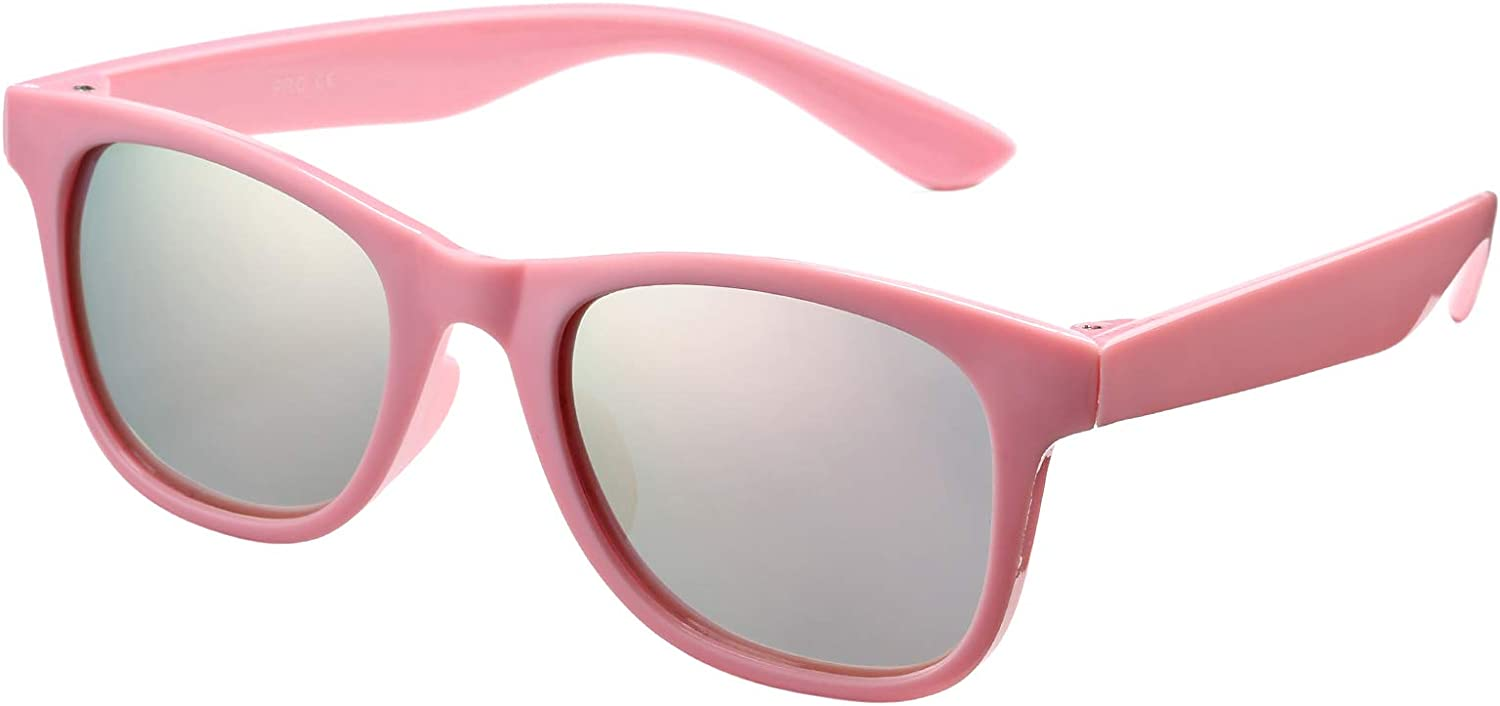 Kids Polarized Sunglasses Square Flexible Shades Frame New Free Shipping Genuine Girls for