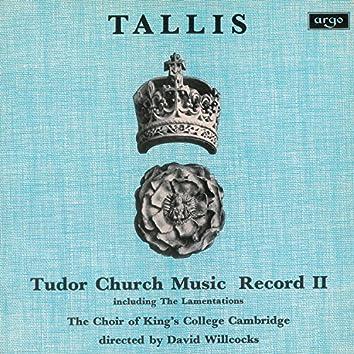 Tallis: Tudor Church Music II (Lamentations of Jeremiah) (Remastered 2015)