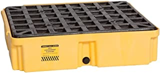 Eagle 1633D Yellow 1 Drum Modular Platform with Drain