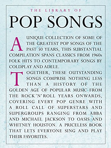 The Library Of Pop Songs: Songbook für Klavier, Gesang, Gitarre
