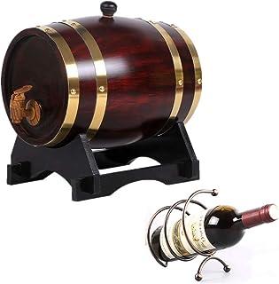 Baril en Chêne avec Bar à Vin Décoré avec Bar à Vin, Adapté au Stockage du Vin, Rhum Vinaigre (Color : Vintage, Size : 1.5L)