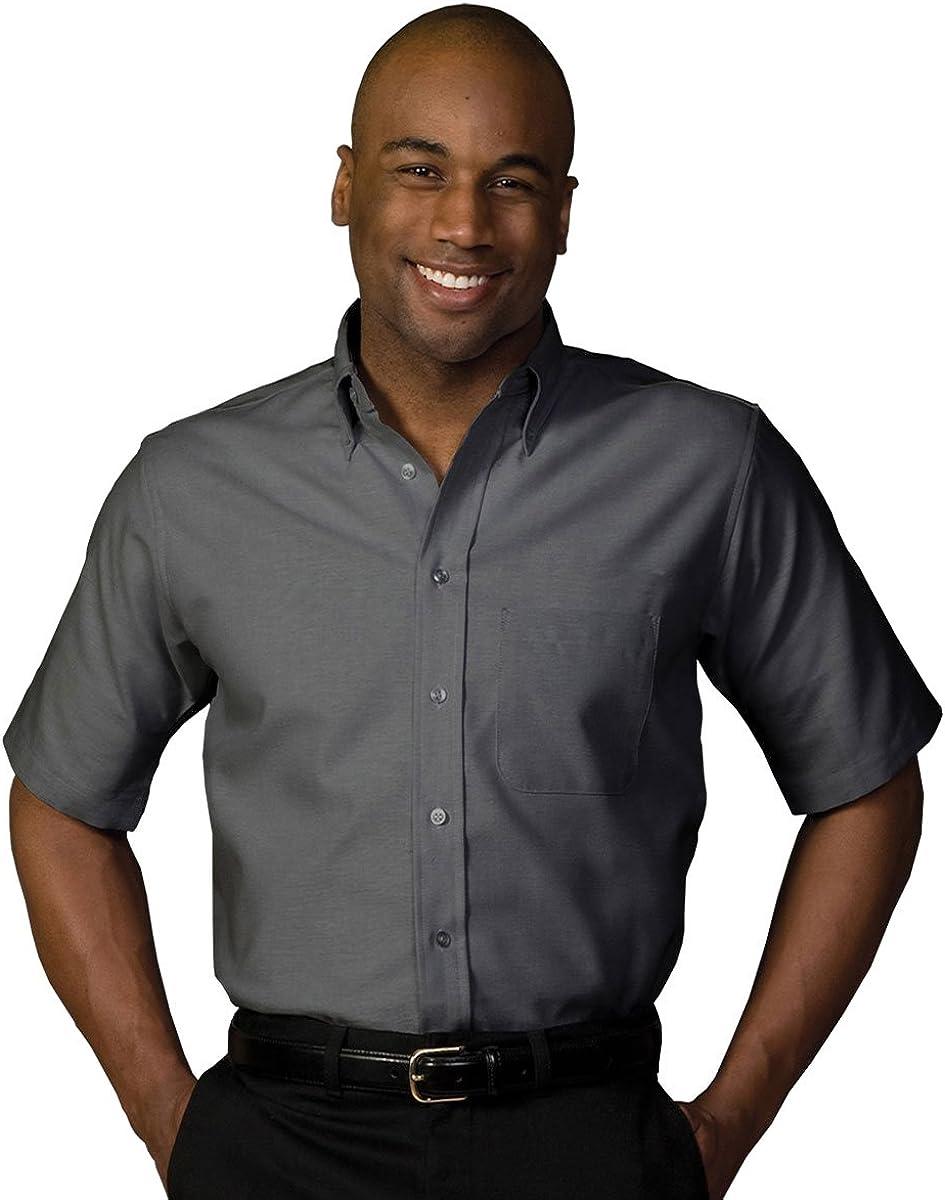 Edwards Men's Short Sleeve Oxford Shirt, BLACK, XLarge