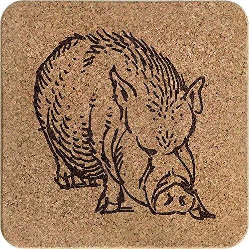 Azeeda 'Wildschwein' Kork Topfuntersetzer (TR00014656)