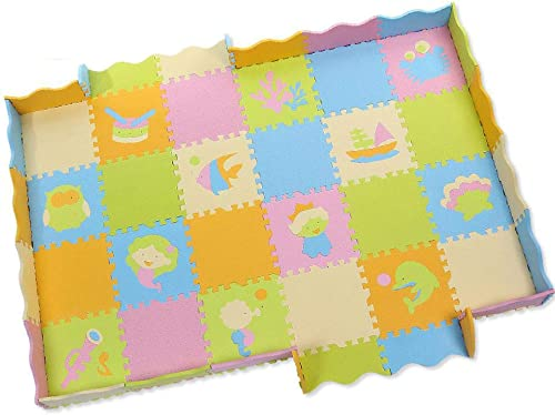 NuoEn Baby Krabbeldecke,Baby Crawl Matte Sicherheit Umwelt Schutz Schaumstoffkissen Puzzleteile Dick Jigsaw Puzzle Spiel Matte