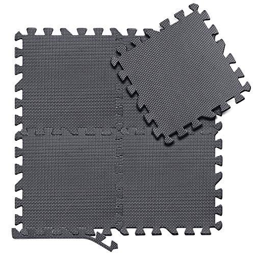arteesol Schutzmatten Set - 18 Puzzlematten je 30x30x1cm,Premium Bodenschutzmatten Unterlegmatten Fitnessmatten für Sport Fitnessraum Fitnessgeräte Fitness Pool (Matten-Black-moon)