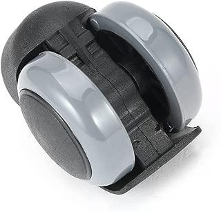 Color:Black Kaemma 1 Pieza de Goma Durable 360 Grados de rotaci/ón de Ruedas giratorias Ruedas giratorias Silla de la computadora de la Oficina Ruedas de Tallo roscado
