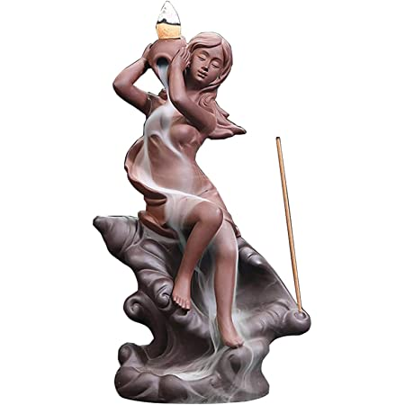 Bong Incense Burner-Ashcatcher Grateful Mermaid Goddess Ceramic Tobacco Pipe