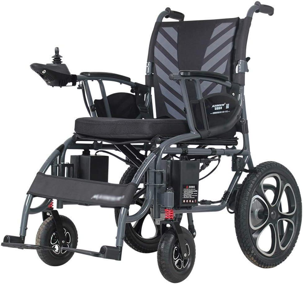 KAD Silla de ruedas eléctrica plegable Ancianos y discapacitados Silla de ruedas automática inteligente Multifuncional Batería de litio 12A Scooter de cuatro ruedas fgj