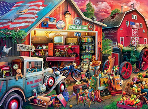 Buffalo Games - Country Life - Antique Barn - 1000 Piece Jigsaw Puzzle