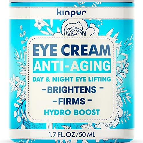 Under Eye Cream for Dark Circles and Puffiness - Best Eye Cream for Eye Bags, Wrinkles, Fine Lines, Crow's Feet - Moisturising, Firming Effect - Anti Aging Eye Cream for Women & Men, 1.7 oz