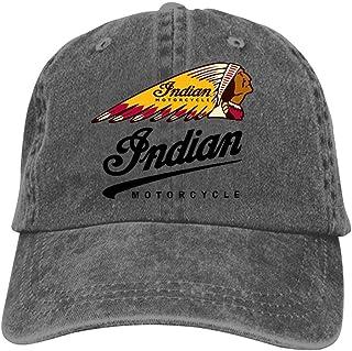 Granbey Indian Motorcycles Logo Unisex Denim Baseball Caps Street Basketball Adjustable Cotton Sport Cap Charcoal