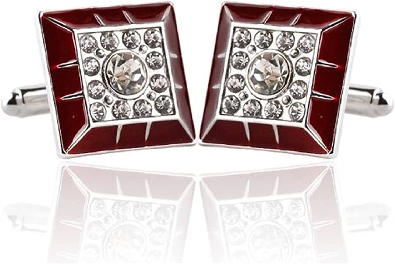 WAZG SYBLD Men's Fashion Black Cufflinks (Metal Color : 5)