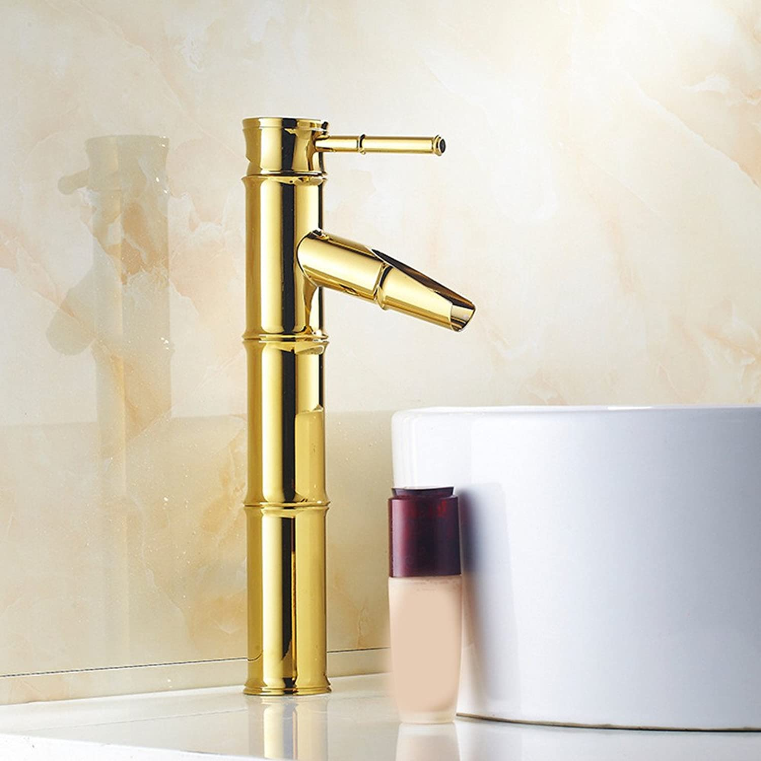 Hlluya Professional Sink Mixer Tap Kitchen Faucet The copper fittings gold plated antique bamboo basin